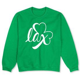 Girls Lacrosse Crew Neck Sweatshirt - Lax Shamrock
