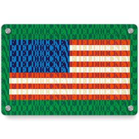 Field Hockey Metal Wall Art Panel - American Flag Mosaic