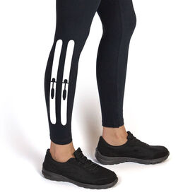 Skiing Leggings Skis