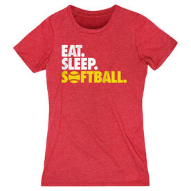 Softball Women's Everyday Tee - Eat. Sleep. Softball.