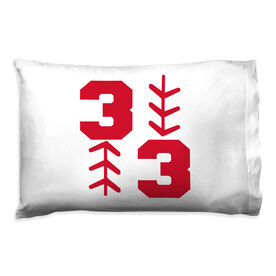 Baseball Pillowcase - Three Up Three Down