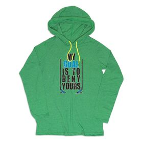 Men's Hockey Lightweight Hoodie - My Goal Is To Deny Yours
