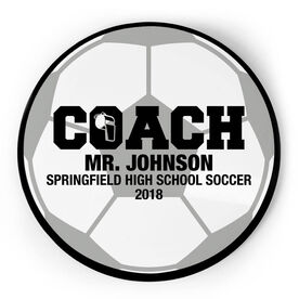 Soccer Circle Plaque - Coach With 3 Lines