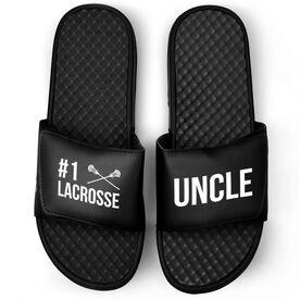 Guys Lacrosse Black Slide Sandals - #1 Lacrosse Uncle