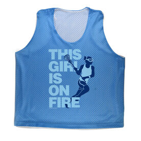 Girls Racerback Pinnie This Girl Is On Fire