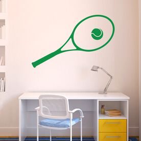 Tennis Removable ChalkTalkGraphix Wall Decal Tennis Racket and Ball