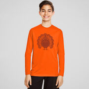 Guys Lacrosse Long Sleeve Performance Tee - Turkey Player