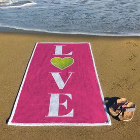Tennis Premium Beach Towel - LOVE with Ball
