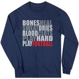 Football Tshirt Long Sleeve Bones Saying