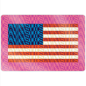 "Gymnastics 18"" X 12"" Aluminum Room Sign - American Flag Mosaic"