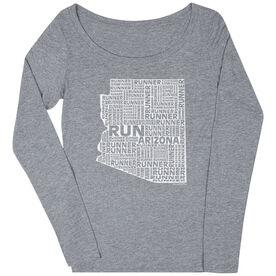 Women's Scoop Neck Long Sleeve Runners Tee Arizona State Runner
