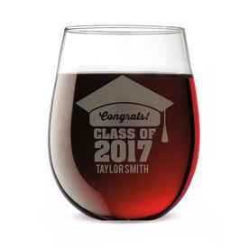 Personalized Stemless Wine Glass - My Graduation