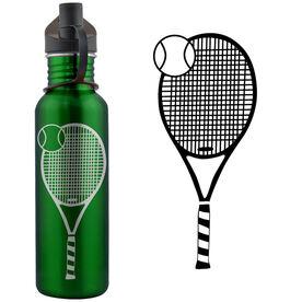 Tennis Racket 24 oz Stainless Steel Water Bottle