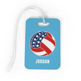 Volleyball Bag/Luggage Tag - American Flag Ball