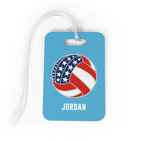 Volleyball Bag/Luggage Tag - American Flag Ball