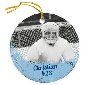 Hockey Porcelain Ornament Your Photo Here