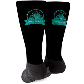 Running Printed Mid-Calf Socks - Your Logo