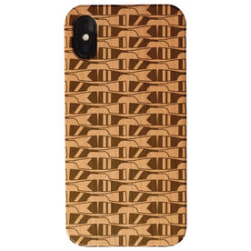 Crew Engraved Wood IPhone® Case - Oar Pattern