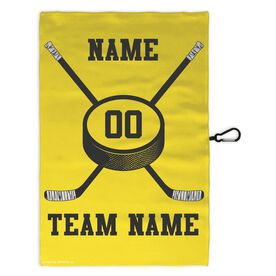 Hockey Skate Towel Hockey Team Crossed Sticks