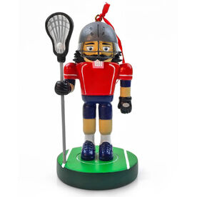 Guys Lacrosse Nutcracker Resin Ornament