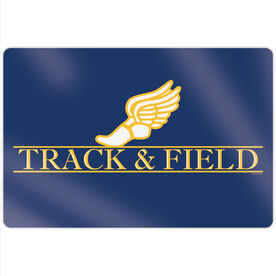 "Track & Field 18"" X 12"" Aluminum Room Sign - Crest"