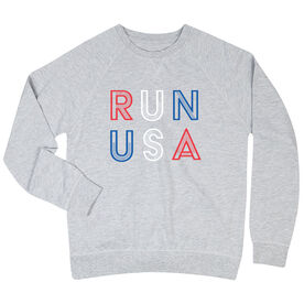 Running Raglan Crew Neck Sweatshirt - Run USA