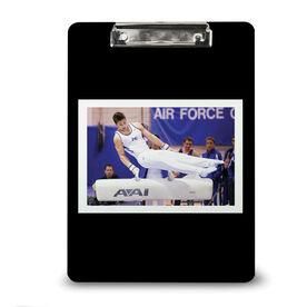 Gymnastics Custom Clipboard Your Photo Solid Background