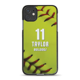 Softball iPhone® Case - Personalized Stitches