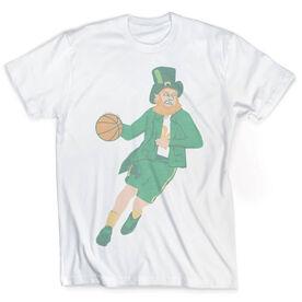 Vintage Basketball T-Shirt - Leprechaun