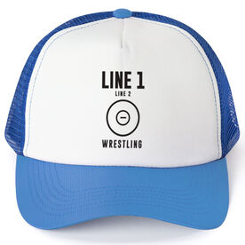 Wrestling Trucker Hat - Team Name With Text
