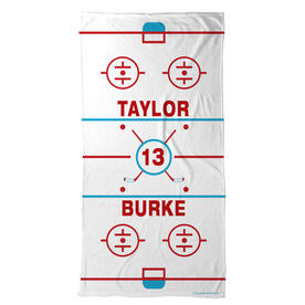 Hockey Beach Towel Personalized Ice Rink