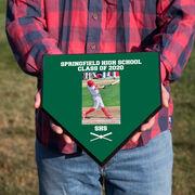 Baseball Home Plate Plaque - Player Photo