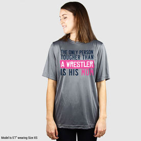 Wrestling Short Sleeve Performance Tee - Tougher Than A Wrestler Mom