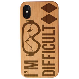 Skiing and Snowboarding Engraved Wood IPhone® Case - I'm Difficult