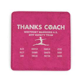 Gymnastics Stone Coaster - Thanks Coach Roster
