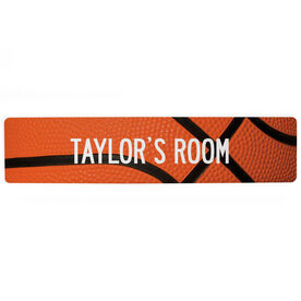 "Basketball Aluminum Room Sign - Your Room Basketball (4""x18"")"