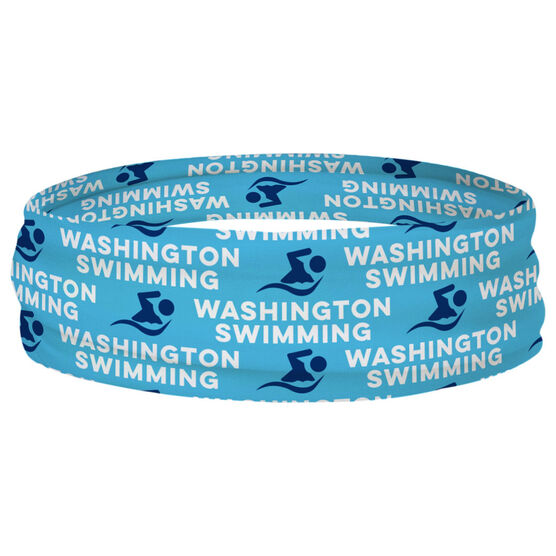 Swimming Multifunctional Headwear - Custom Team Name Repeat RokBAND