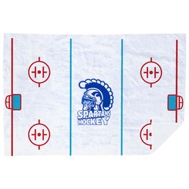 Hockey Premium Blanket - Rink and Logo
