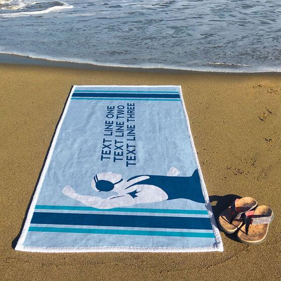 Wrestling Premium Beach Towel - Personalized Wrestler