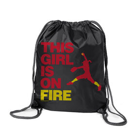 Softball Sport Pack Cinch Sack This Girl Is On Fire Pitcher