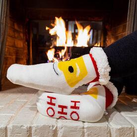 Santa Slipper Socks with Sherpa Lining