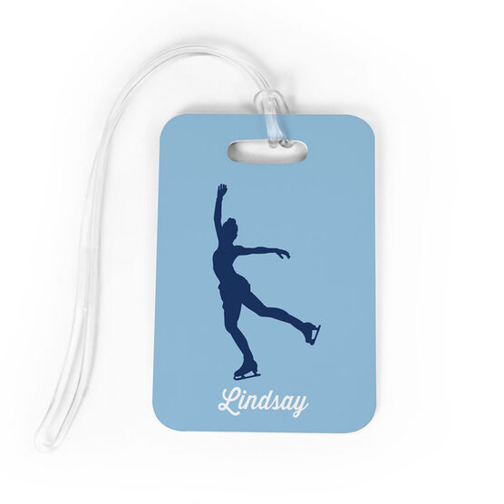 Figure Skating Bag/Luggage Tag - Figure Skater Silhouette