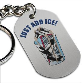 Just Add Ice Printed Dog Tag Keychain
