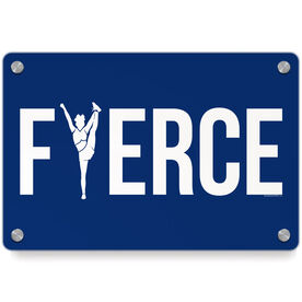 Cheerleading Metal Wall Art Panel - Fierce with Silhouette