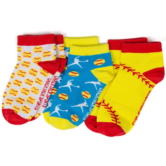 Softball Ankle Sock Set - Softball For Days