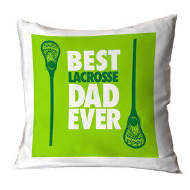 Guys Lacrosse Throw Pillow Best Dad Ever