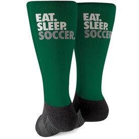 Soccer Printed Mid-Calf Socks - Eat Sleep Soccer
