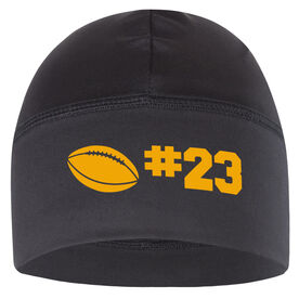Beanie Performance Hat - Football Icon with Number