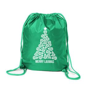 Lacrosse Sport Pack Cinch Sack - Merry Laxmas Tree