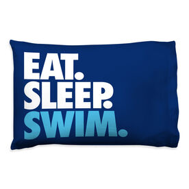 Swimming Pillowcase - Eat. Sleep. Swim.